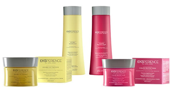 prodotti Eksperience Hydro Nutritive e Color Protection