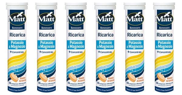 tester dell'integratore alimentare Matt Ricarica Potassio & Magnesio