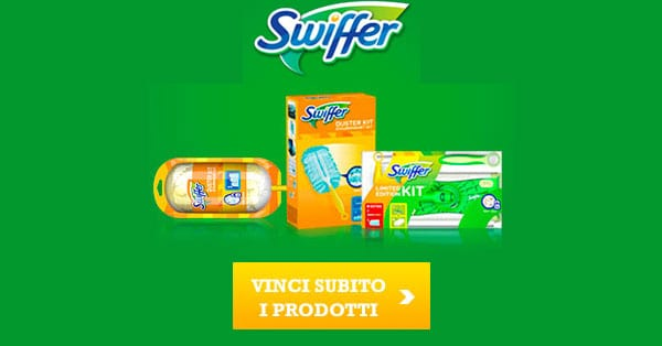 Vinci gratis 100 kit Swiffer