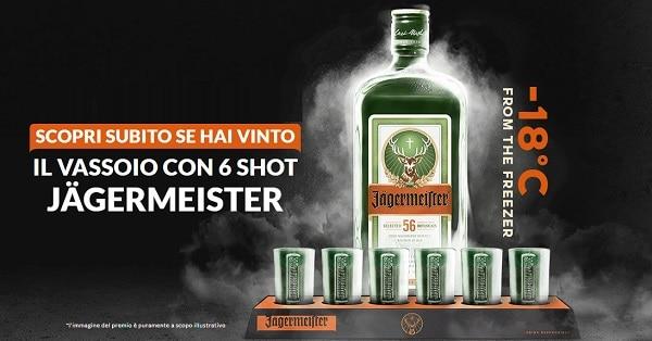 Vinci vassoi con 6 shot e Jägermeister Party