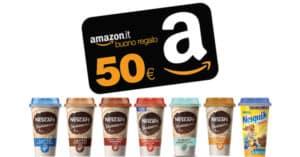 Concorso Nescafé Vinci buoni Amazon da 50 Euro