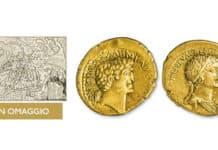 Stampa con la pianta di Roma Antica in omaggio