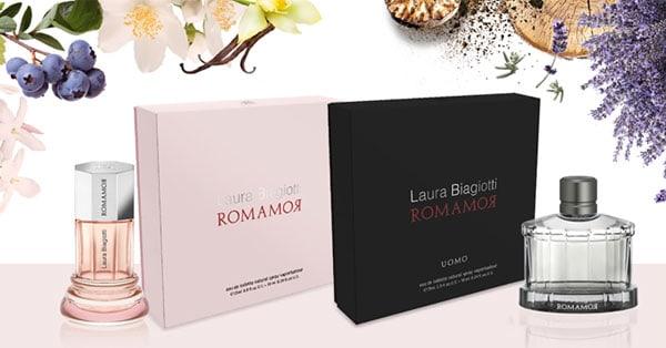 tester dei profumi RomamoR di Laura Biagiotti