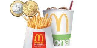 Bibita piccola e patatine piccole a 1,50€ da McDonald's