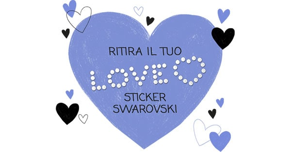 Sticker Swarovski omaggio