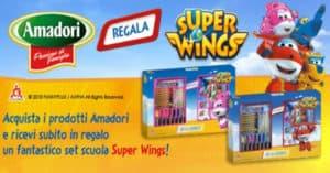 Set scuola Super Wings in regalo con Amadori