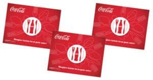 Tovaglietta Coca-Cola in regalo