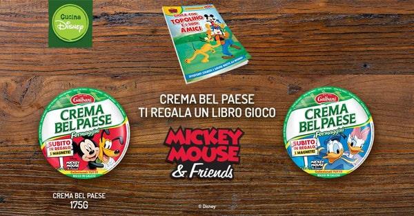 Crema Bel Paese ti regala un libro gioco Mickey Mouse Friends