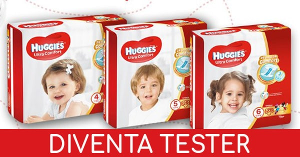 tester pannolini Huggies Ultra Comfort