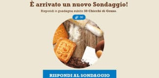 Sondaggio Mulino Bianco Biscotti e ricette
