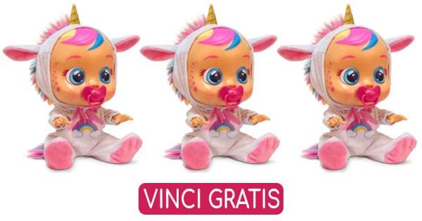 Vinci gratis Cry Baby Unicorno