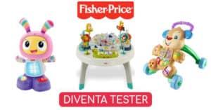 Diventa tester giocattoli Fisher-Price