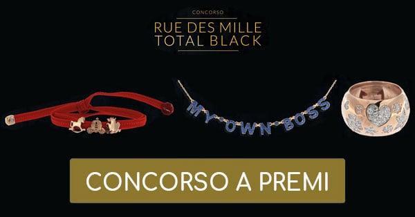 Concorso Rue des Mille Total Black Friday