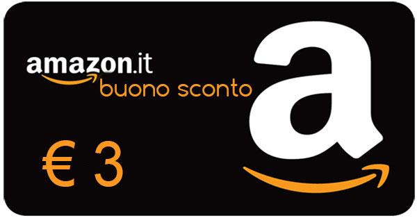 Buono Amazon 3 Euro gratis con Prime