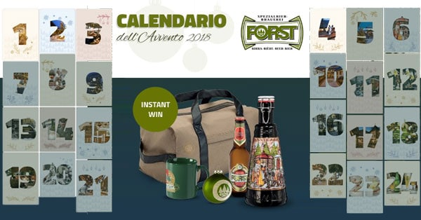 Calendario Avvento Birra.Calendario Dell Avvento Birra Forst 2018 Www
