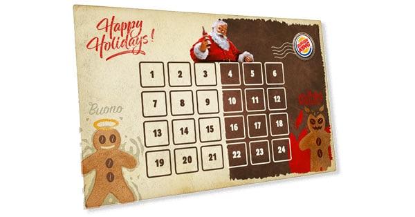 Calendario dell'Avvento Burger King