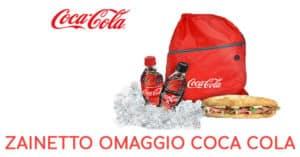 Zainetto omaggio Coca cola