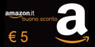 buono amazon 5 euro in regalo con Prime Video
