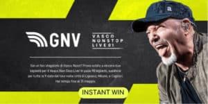 concorso gnv vasco non stop live vinci 2 biglietti