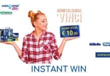 "Instant win ""Vinci in cassa"""