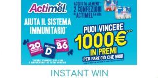 Concorso instant win Actimel