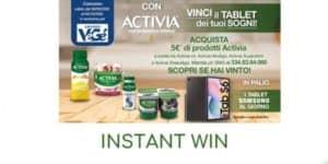 Concorso instant win Activia