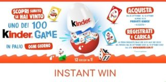 Instant win Kinder Game