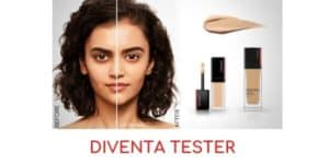 diventa tester shiseido makeup