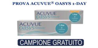 campione omaggio lenti a contatto Acuvue 1 day