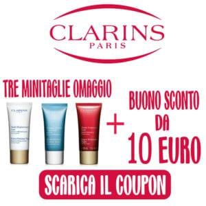 coupon 10 euro clarins e minitaglie 30ml